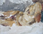 """""""The bed"""", 2011 Oil and wax on canvas 24x19cm"""