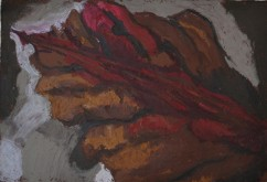 """The womb"", 2011 Oil pastel on paper 25x17.5cm"