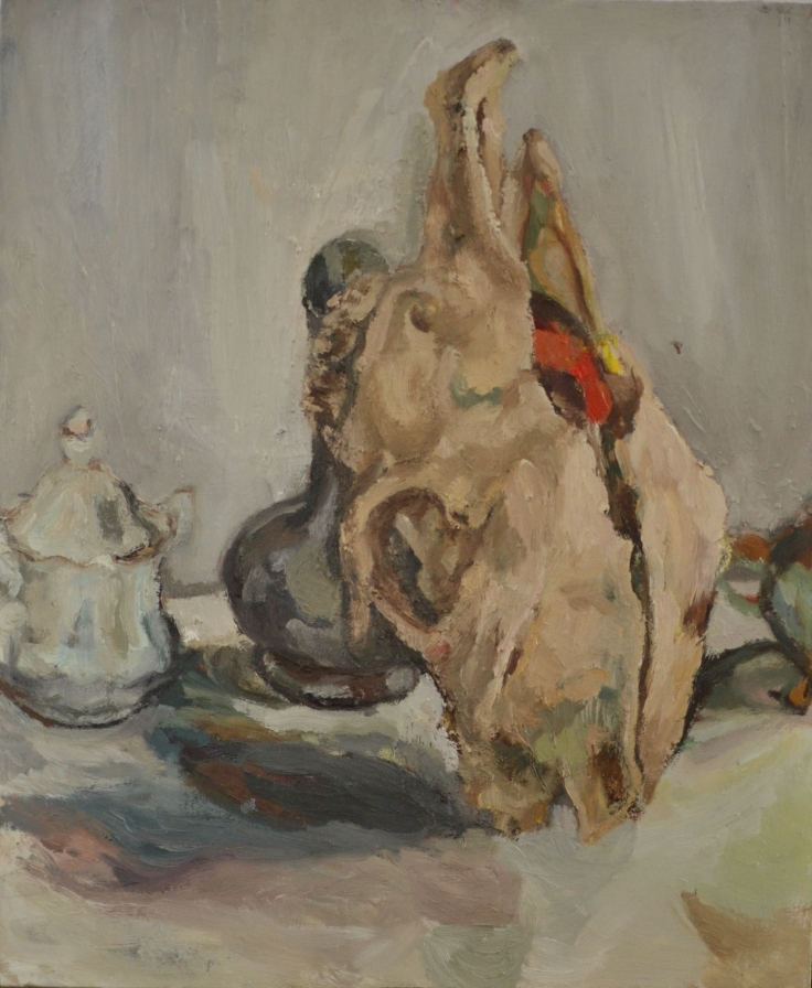 """""""Timotije"""", 2012 Oil on canvas mounted on cardboard 41x50cm"""